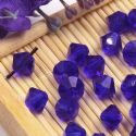 Beads, Auralescent Crystal, Crystal, Dark purple , Faceted Bicones, 6mm x 6mm x 5mm, 10 Beads, [ZZC195]